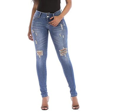 MEISITE High-Rise Brazilian Style Skinny Jeans