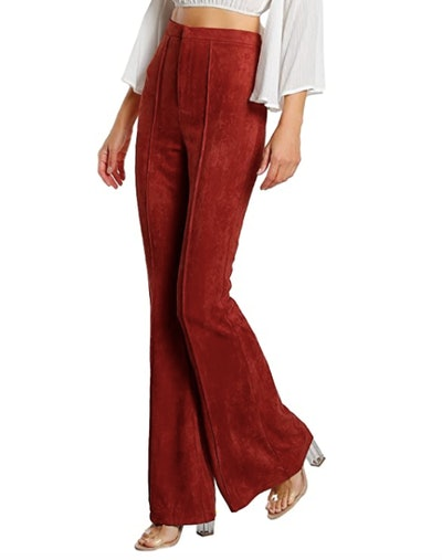 MakeMeChic Stretchy Bell Bottom Trousers