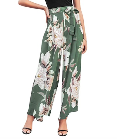 BerryGo Boho High Waist Wide Leg Pants