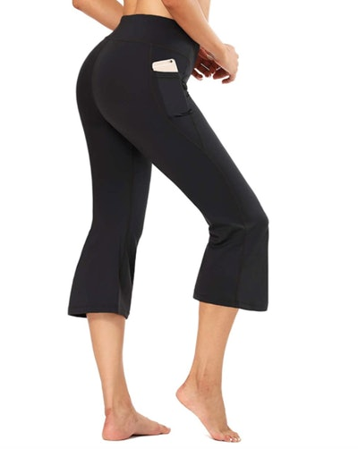 FIRST WAY Buttery Soft Bootcut Yoga Capris