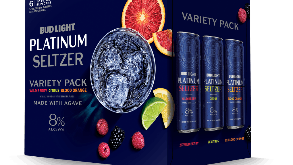 Bud Light's new Platinum Seltzers come in three fruity flavors