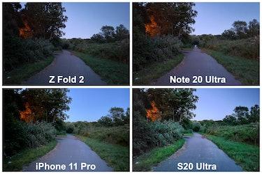 Galaxy Z Fold 2 camera comparison