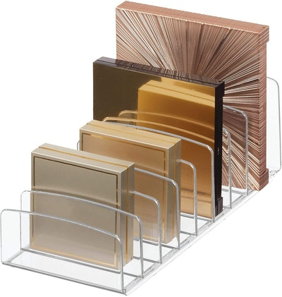 iDesign Clarity Divided Makeup Palette Organizer