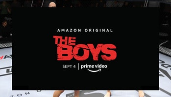 An advertisement for The Boys on Amazon Prime Video playing during UFC 4 gameplay.