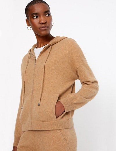 Autograph Pure Cashmere Cropped Hoodie