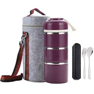 WorthBuy Bento Lunch Box Stackable Stainless Steel