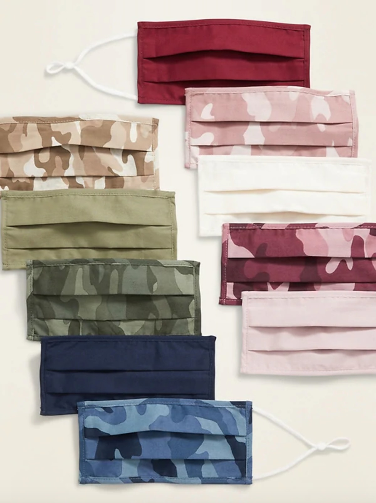 Old Navy Variety 10-Pack of Triple-Layer Cloth Face Masks for Adults