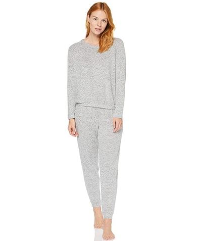 Iris & Lilly Women's Super Soft Loungewear Sweater and Jogger Set