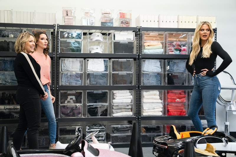 'Get Organized With the Home Edit' hosts Joanna Teplin and Clea Shearer with Khloe Kardashian via the Netflix press site