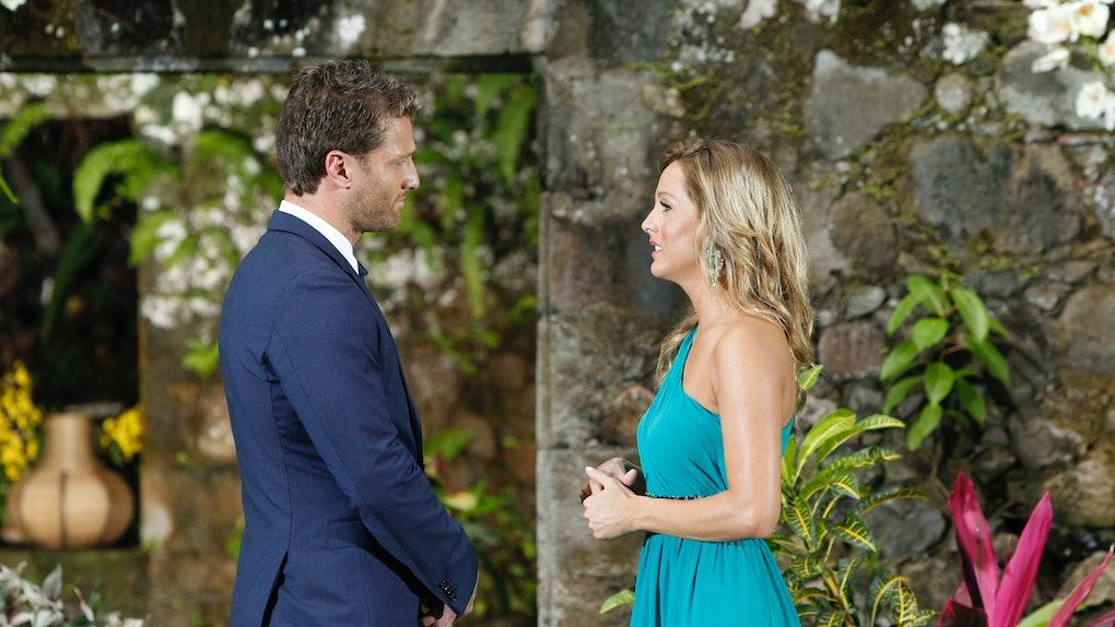 Clare Crawley and Juan Pablo Galavis during Season 18 of 'The Bachelor'