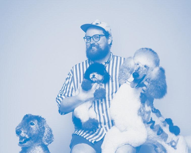 Musician Dan Deacon with dogs.