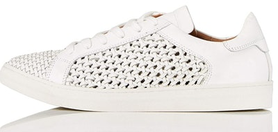 find. Weave Leather Sneakers