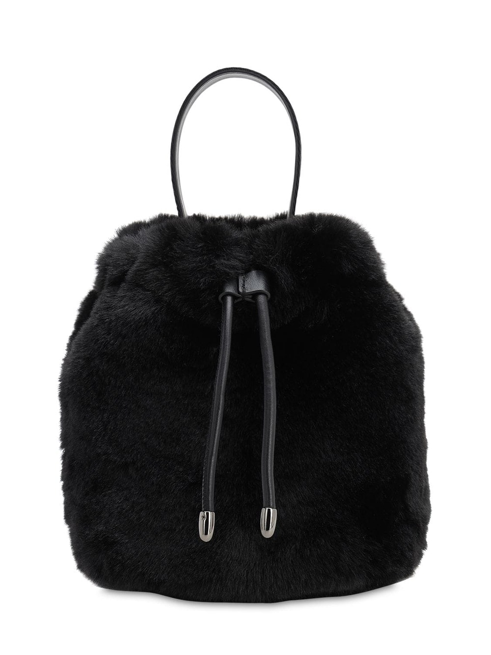 Karl x Carine Faux Fur Bucket Bag