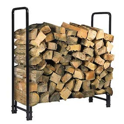 Kingso 4ft Firewood Outdoor Heavy Duty Log Rack