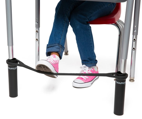 Help your kids focus on their school work with these bouncy chair bands that get their wiggles out.
