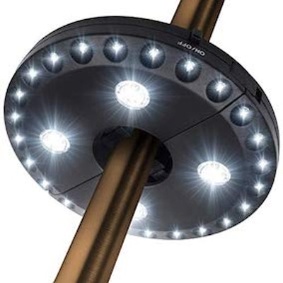 Oyoco Patio Umbrella Light 3 Brightness Modes Cordless 28 LED Lights