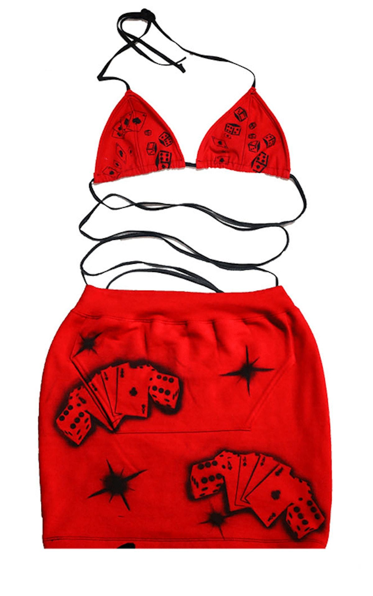 Ella Loca Play Ur Cards Right Bikini & Skirt Set