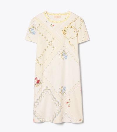 HANDKERCHIEF PRINTED T-SHIRT DRESS