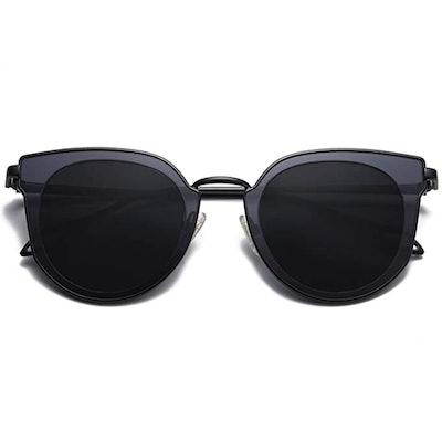 SOJOS Round Cat Eye Polarized Sunglasses