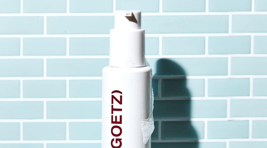 MALIN+GOETZ's Detox Scalp Mask in bottle, texture shot.