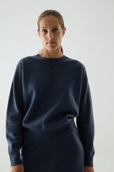 Merino Wool Puff Sleeve Jumper