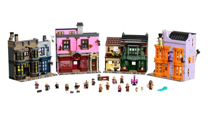 The 'Harry Potter' Diagon Alley LEGO set is a truly magical building experience.