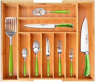 ROYAL CRAFT WOOD Bamboo Kitchen Drawer Organizer