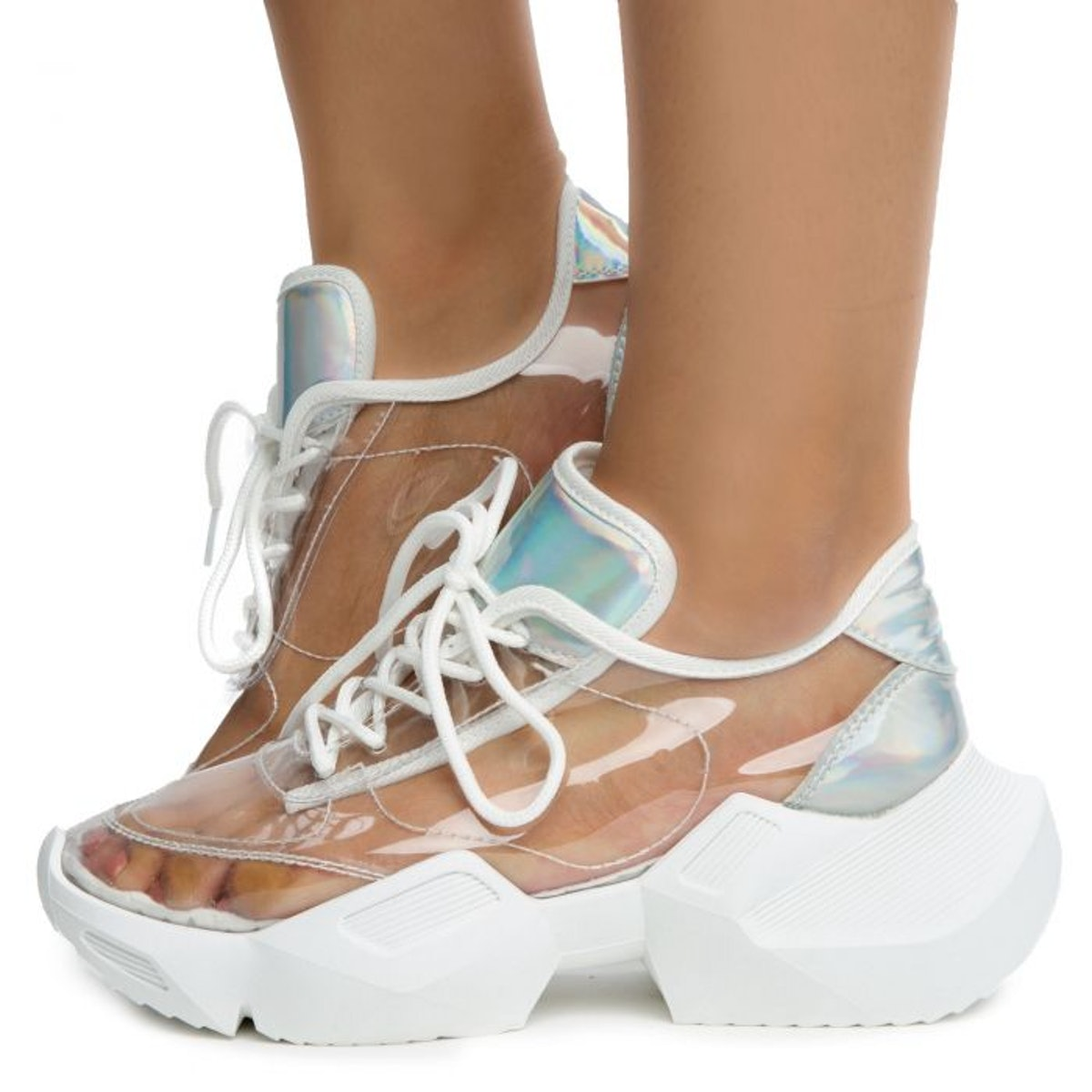 Yoki Shoes Nessa-01 Clear Sneakers
