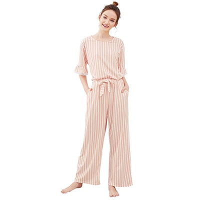 SweatyRocks Cotton Pajama Set