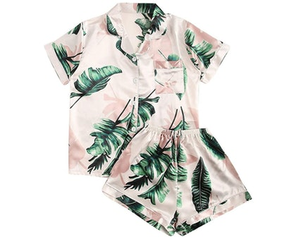 Floern Notch Collar Pajama Set