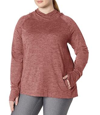 Amazon Essentials Women's Plus Size Brushed Popover Hoodie