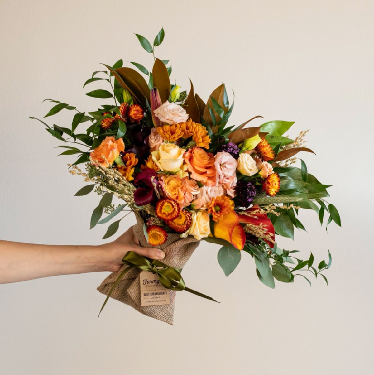The Just Right Burlap Wrapped Bouquet