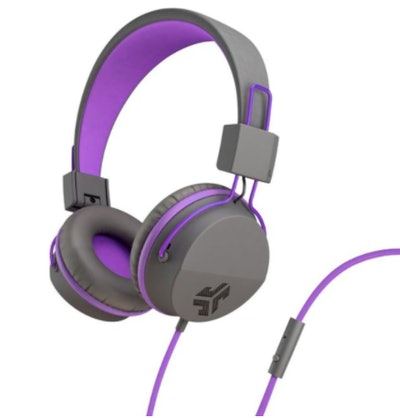 JLab Audio - JBuddies Studio Wired Over-the-Ear Headphones - Gray/Purple