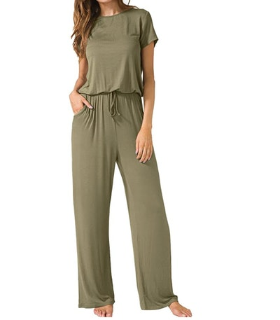 Lainab Women's Short Sleeve Jumpsuits with Pockets