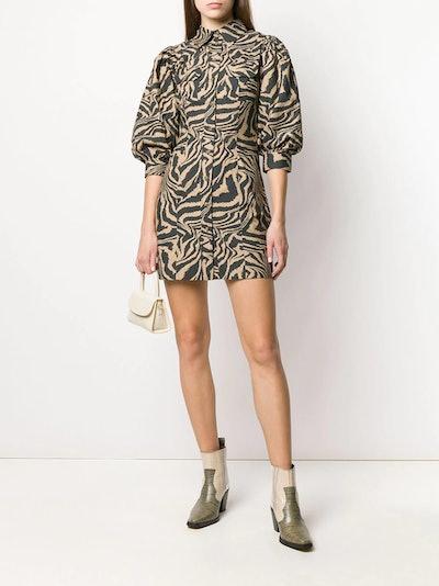 SWIRL TIGER-PRINT DRESS