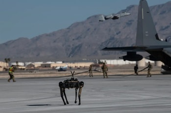 The U.S. Air Force is testing robot dogs that could provide persistent surveillance.