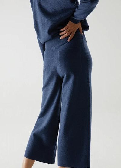 Merino Wool Wide Leg Trousers
