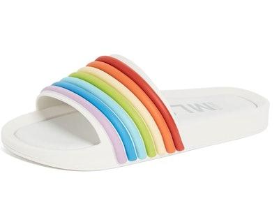 Melissa Womens Beach Slide 3DB Rainbow Sandal