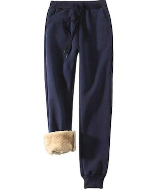 Yeokou Women's Sherpa Lined Athletic Sweatpants