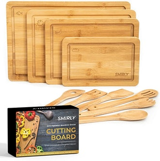 Smirly Bamboo Cutting Board (Set of 4)