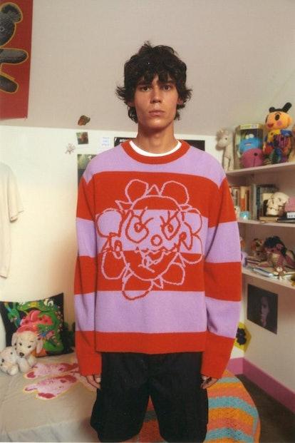 Crazy Daisy Striped Sweater