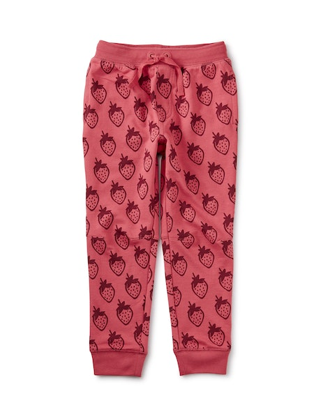 French Terry Joggers in Really Roja