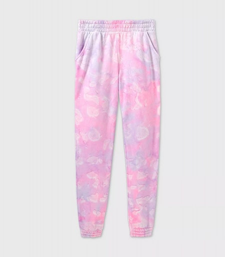 More than Magic Girls' Tie-Dye Jogger Pants in Pink