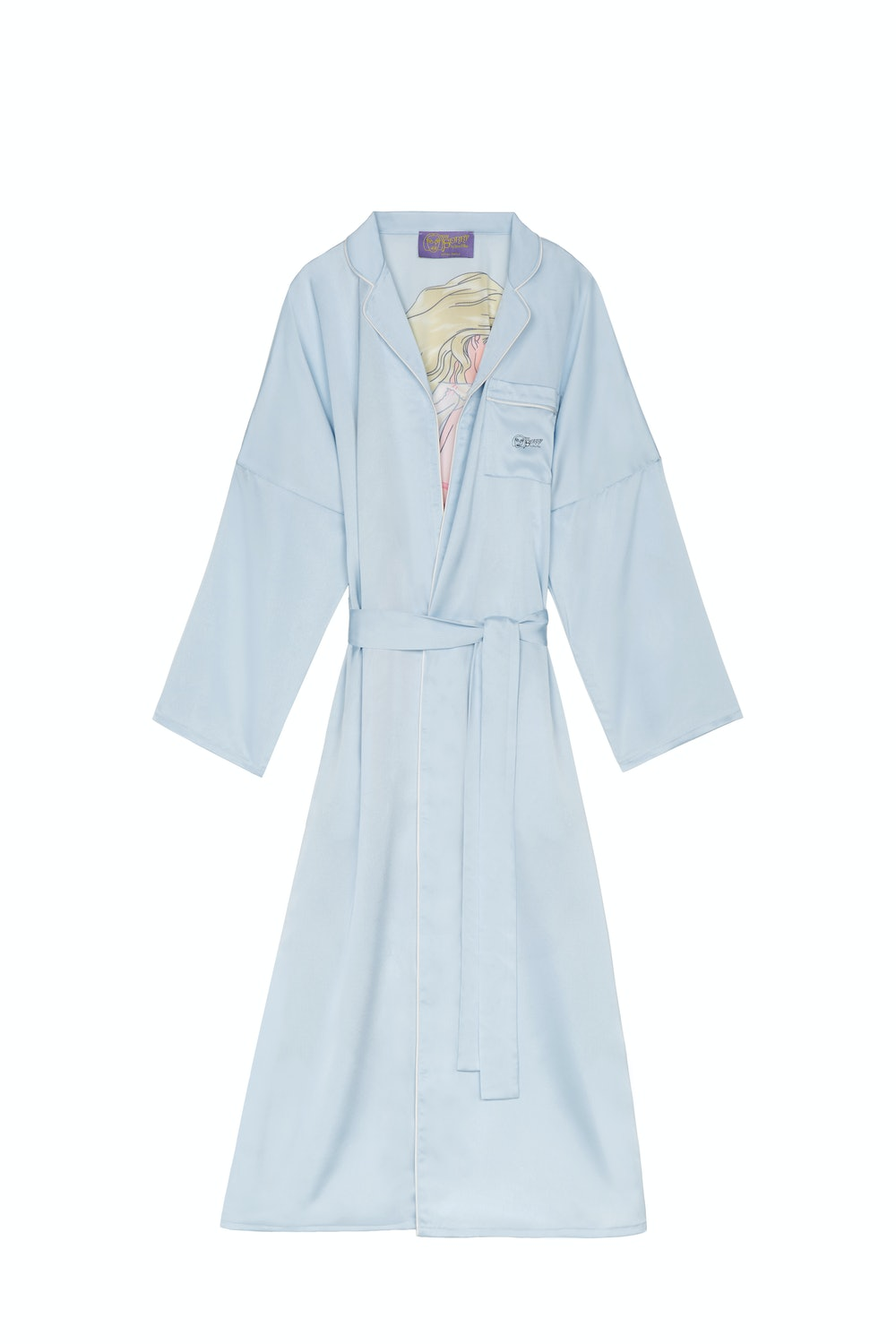 SSENSE Exclusive Blue Graphic Morning Gown