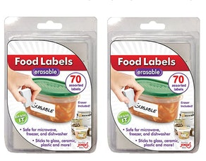 Jokari Erasable Food Labels (2 pack)