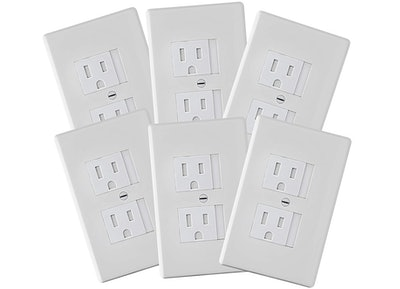Safety Innovations Self-Closing Standard Outlet Covers (6-Pack)
