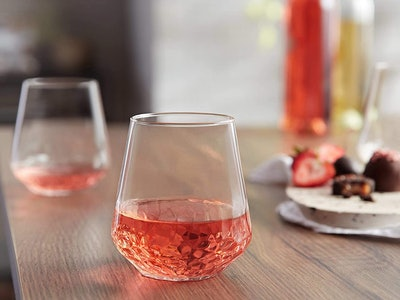 Libbey All-Purpose Stemless Wine Glasses (Set of 8)