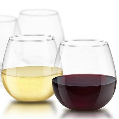 JoyJolt Stemless Wine Glasses (Set of 4)