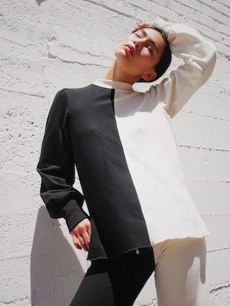 wabi two-tone sweater