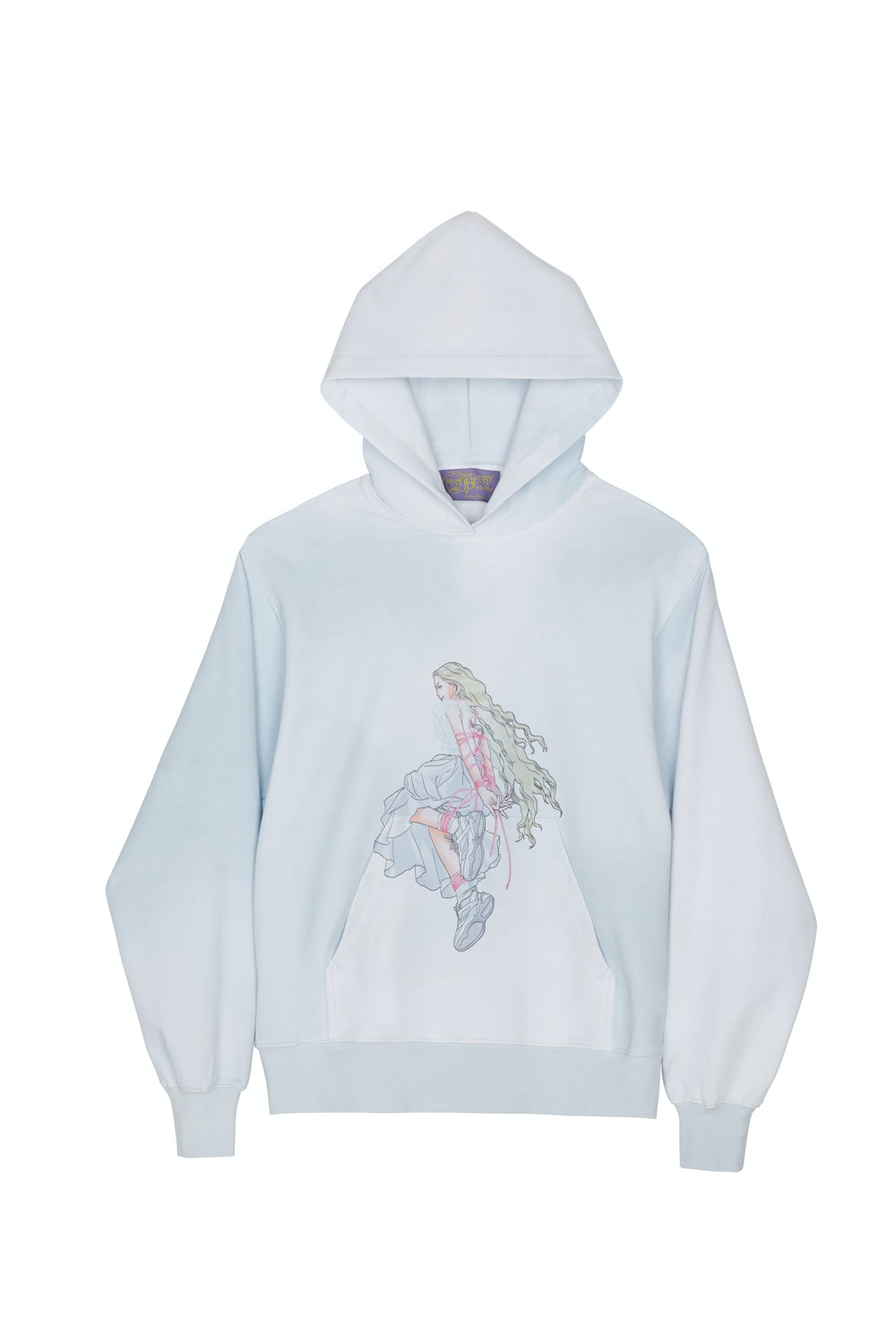SSENSE Exclusive Blue & White Graphic Pullover Hoodie